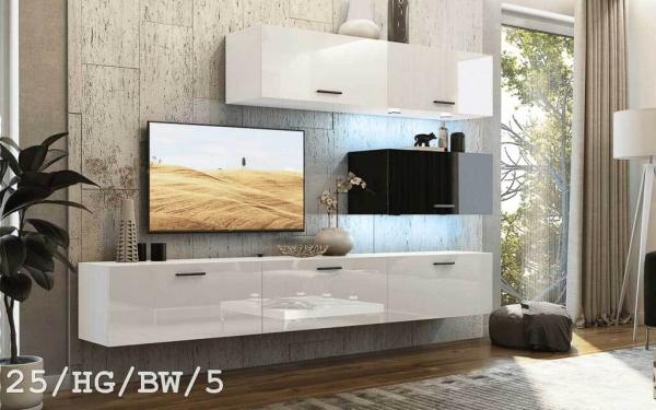 Möbel für Wohnzimmer weiß und schwarz glänzend – Future 25 | Prime Home Deutschland – Möbel für Haus und Büro | www.prime-home.de