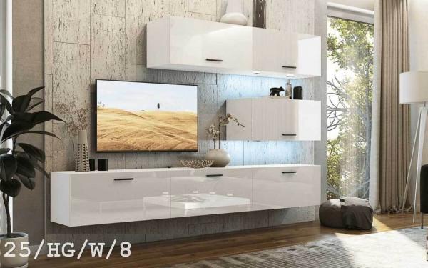 Möbel für Wohnzimmer weiß und glänzend – Future 25 | Prime Home Deutschland – Möbel für Haus und Büro | www.prime-home.de