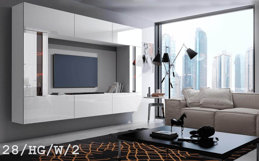 m bel f r wohnzimmer future 28 wei und gl nzend prime. Black Bedroom Furniture Sets. Home Design Ideas