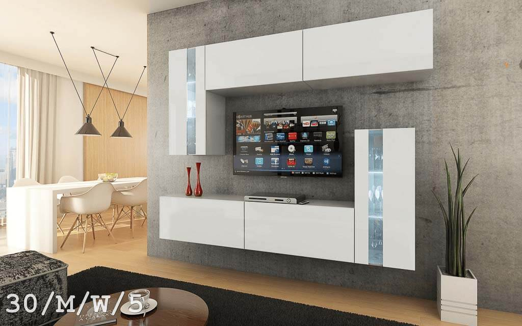 m bel f r wohnzimmer future 30 wei und matt prime home de. Black Bedroom Furniture Sets. Home Design Ideas
