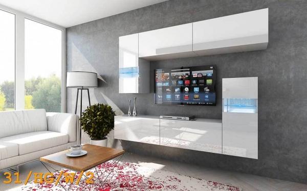 Möbel für Wohnzimmer weiß und glänzend – Future 31 - Prime Home Deutschland – Möbel für Haus und Büro | www.prime-home.de