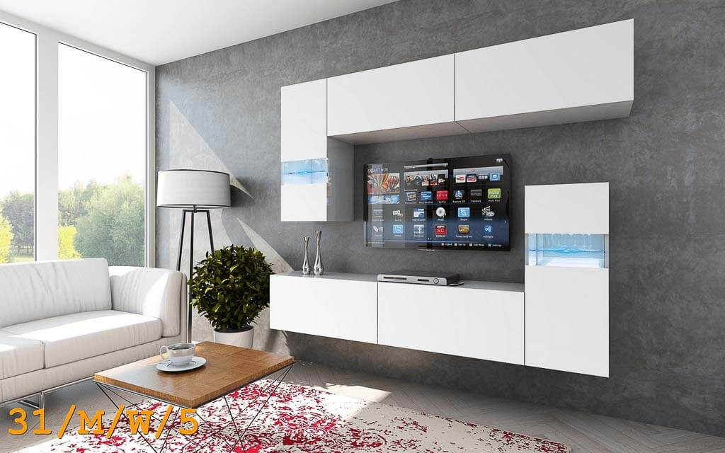m bel f r wohnzimmer future 31 wei und matt prime home de. Black Bedroom Furniture Sets. Home Design Ideas