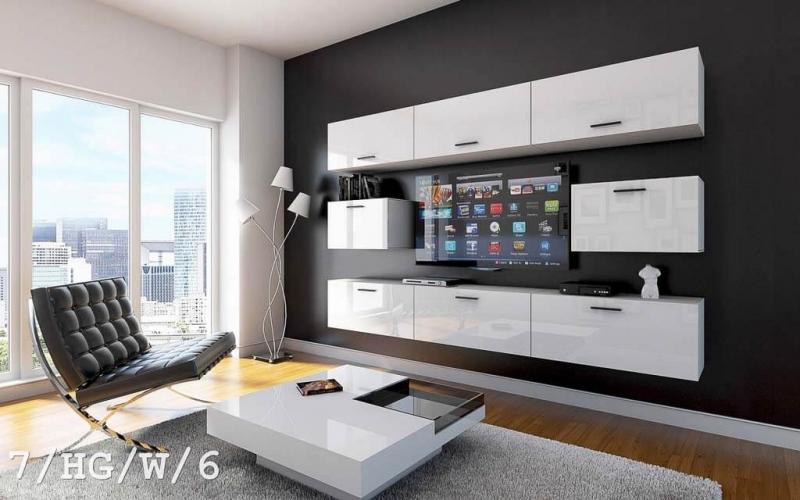 Möbel für Wohnzimmer Future 7 HG/W/6 Möbel für Haus und Büro