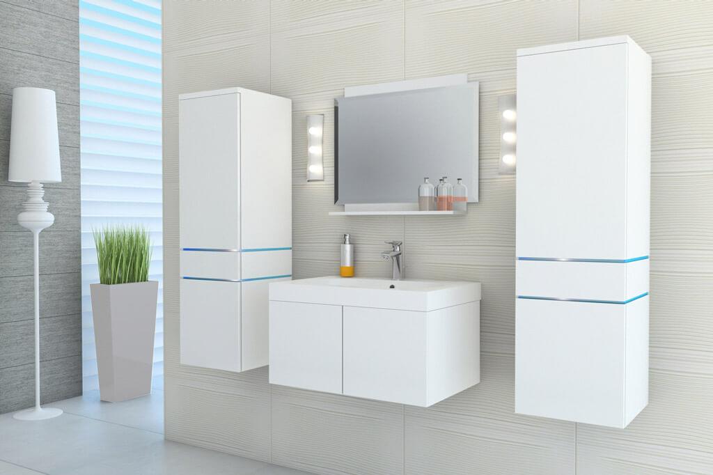 m bel f r badezimmer hera wei und gl nzend. Black Bedroom Furniture Sets. Home Design Ideas