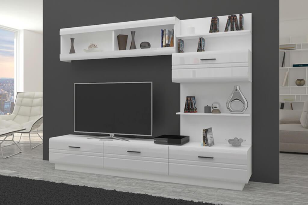 Möbel für Wohnzimmer weiß und glänzend – ALEXIA | Prime Home Deutschland – Möbel für Haus und Büro | www.prime-home.de