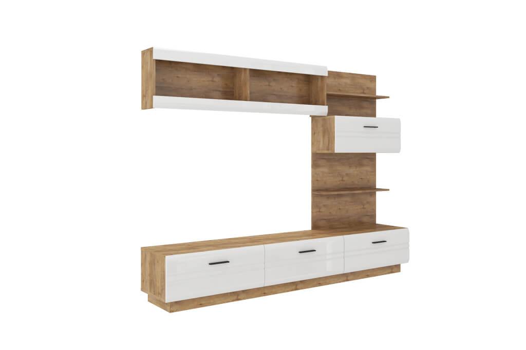 Möbel für Wohnzimmer ALEXIA - weiß und glänzend | www.prime-home.de