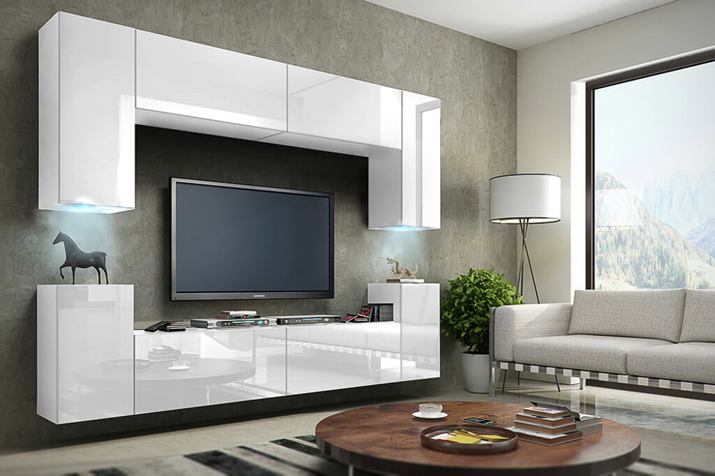 m bel f r wohnzimmer future 1 wei und gl nzend prime home. Black Bedroom Furniture Sets. Home Design Ideas