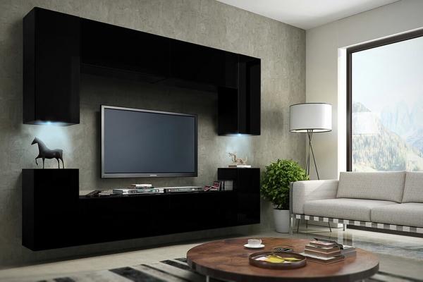 Möbel für Wohnzimmer schwarz und matt – Future 1 | Prime Home Deutschland – Möbel für Haus und Büro | www.prime-home.de