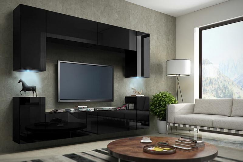 Möbel für Wohnzimmer schwarz und glänzend – Future 1 | Prime Home Deutschland – Möbel für Haus und Büro | www.prime-home.de
