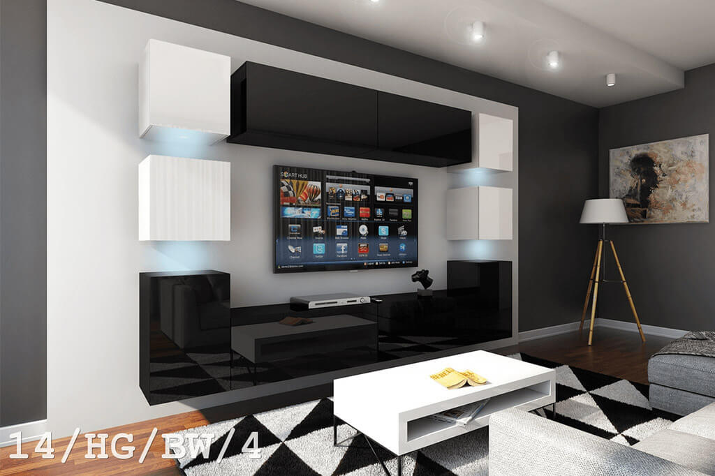 m bel f r wohnzimmer future 14 hg bw 4 m bel f r haus. Black Bedroom Furniture Sets. Home Design Ideas