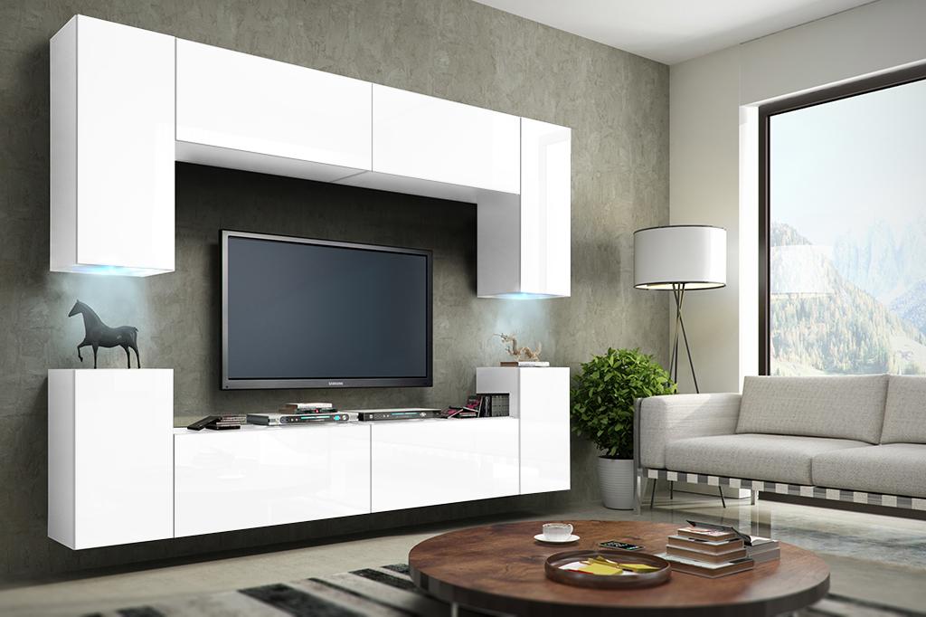 Möbel für Wohnzimmer – FUTURE 1 weiß und matt www.prime-home.de