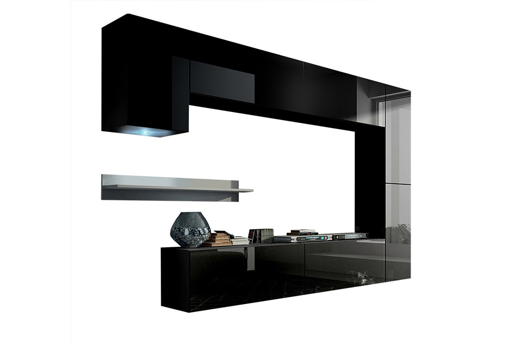 Möbel für Wohnzimmer Future 6 - schwarz und glänzend | Prime Home Deutschland – Möbel für Haus und Büro | www.prime-home.de
