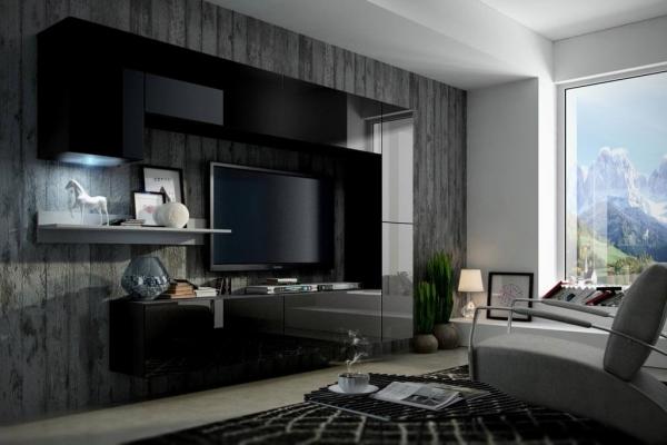 Möbel für Wohnzimmer schwarz und glänzend – Future 6 - Prime Home Deutschland – Möbel für Haus und Büro | www.prime-home.de