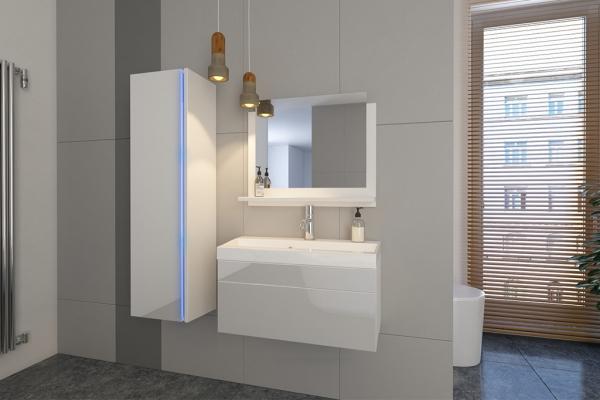 Weiße Möbel für Badezimmer mit Waschbecken – Jenny 2 80 cm - Prime Home Deutschland – Möbel für Haus und Büro | www.prime-home.de