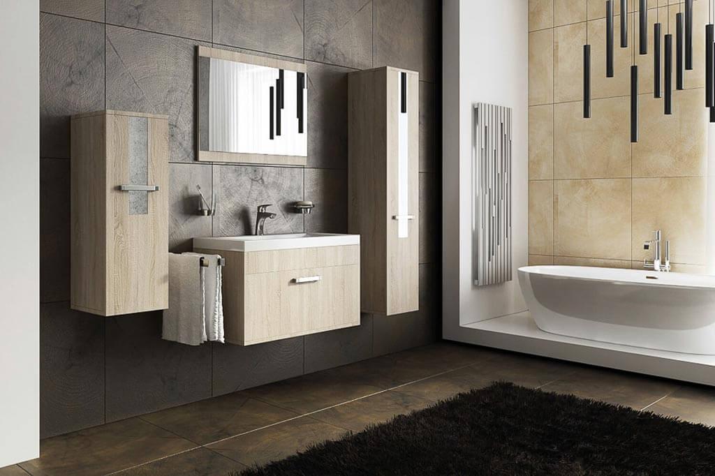 m bel f r badezimmer sheri sonoma eiche. Black Bedroom Furniture Sets. Home Design Ideas