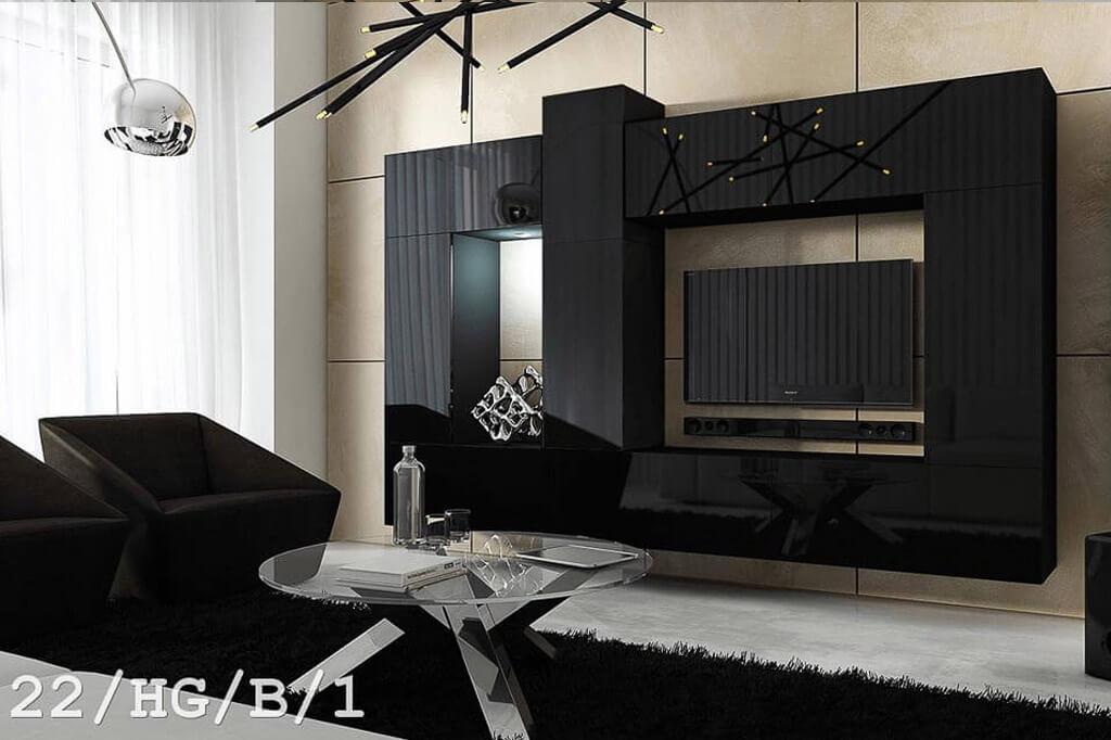 Mobel Fur Wohnzimmer Future 22 Schwarz Www Prime Home De