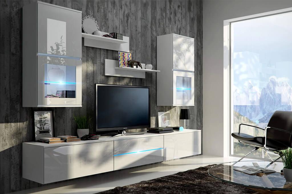 Wohnzimmermöbel Moon Weiß Und Glänzend Wwwprime Homede