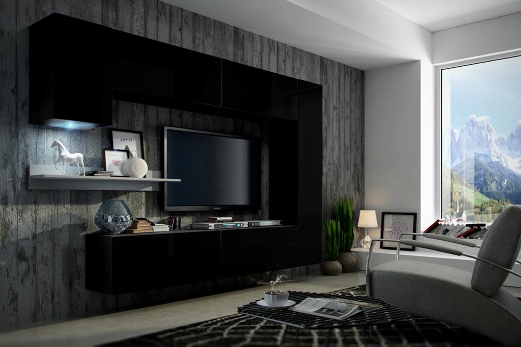Gut gemocht Möbel für Wohnzimmer Future 6 - schwarz, matt www.premium-home.de DJ69