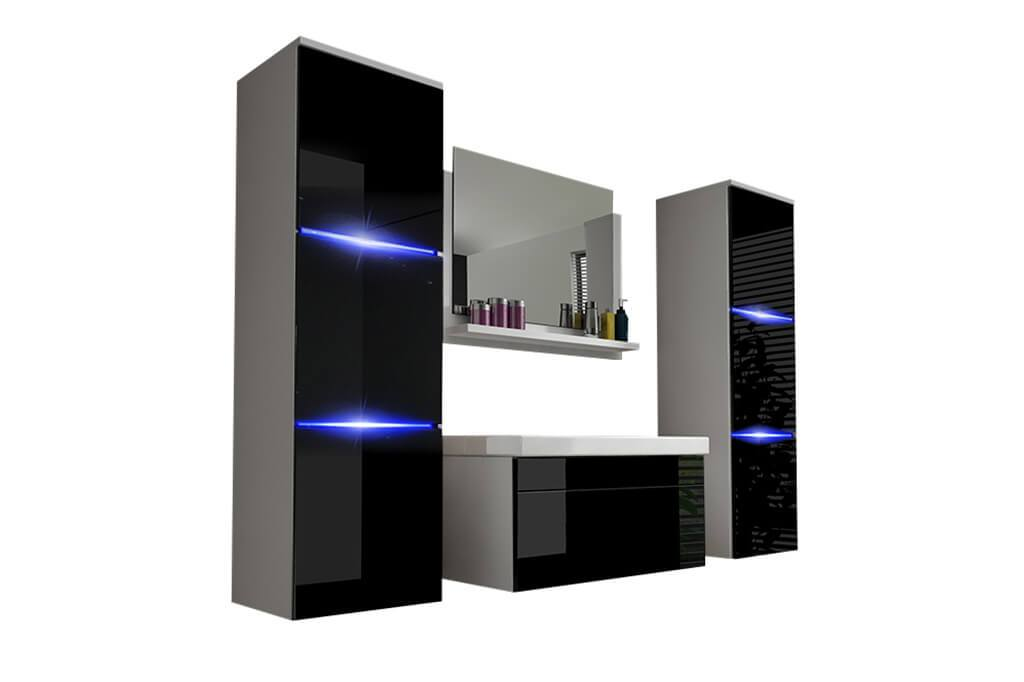 m bel f r badezimmer nathalie wei und schwarz prime home de. Black Bedroom Furniture Sets. Home Design Ideas