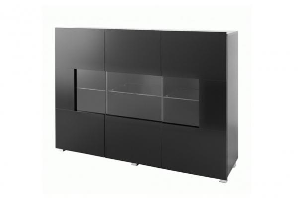 Schwarze Kommode mit Vitrine – KARL - Prime Home Deutschland – Möbel für Haus und Büro | www.prime-home.de