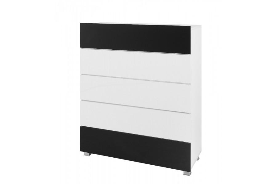 kommode karl wei und schwarz. Black Bedroom Furniture Sets. Home Design Ideas