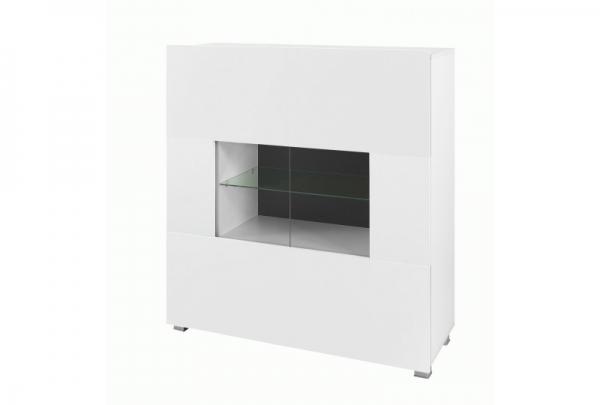 Weiße Kommode mit Vitrine – KARL 2 - Prime Home Deutschland – Möbel für Haus und Büro | www.prime-home.de