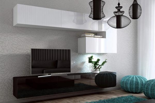 Möbel für Wohnzimmer weiß und schwarz glänzend – Future 15 | Prime Home Deutschland – Möbel für Haus und Büro | www.prime-home.de