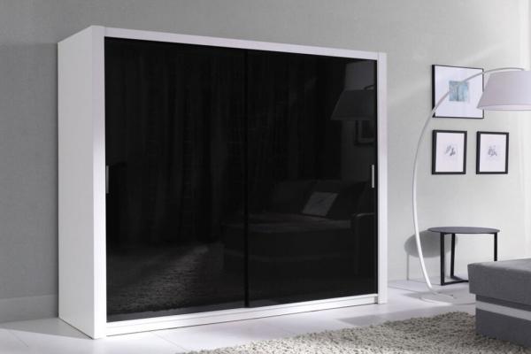 Kleiderschrank schwarz weiß Hochglanz – Fubu - Prime Home Deutschland – Möbel für Haus und Büro | www.prime-home.de