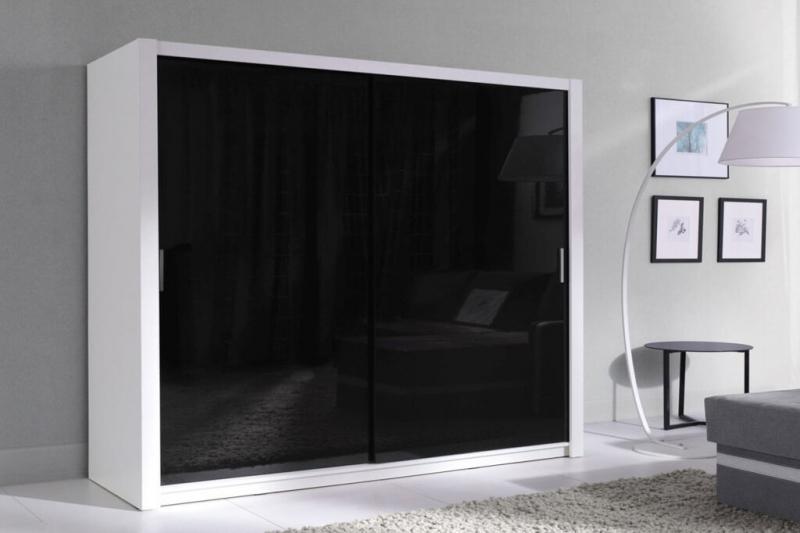 Kleiderschrank Schwarz Weiß Hochglanz U2013 Fubu   Prime Home Deutschland U2013  Möbel Für Haus Und Büro