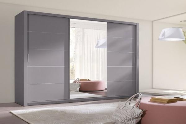 Ein grauer Kleiderschrank – Berra - Prime Home Deutschland – Möbel für Haus und Büro | www.prime-home.de
