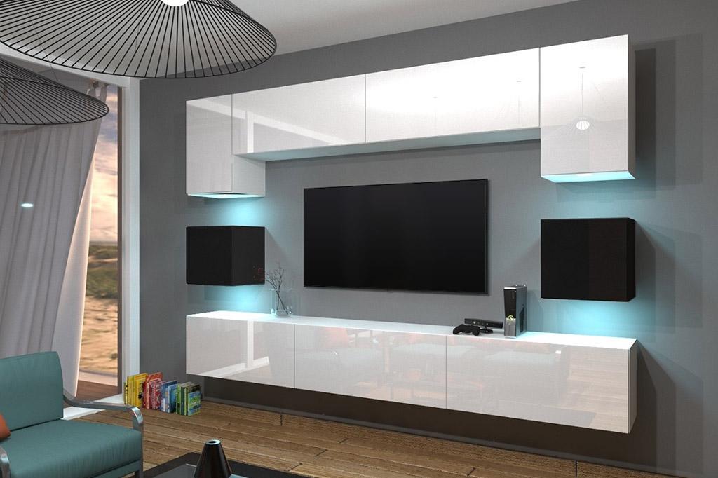 Charmant Möbel Für Wohnzimmer Weiß/schwarz Und Glänzend U2013 Nowara NX 1   Prime Home  Deutschland