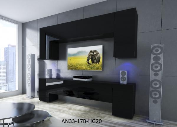 Möbel für Wohnzimmer Schwarz und glänzend – Ekwador NX 33 - Prime Home Deutschland – Möbel für Haus und Büro | www.prime-home.de