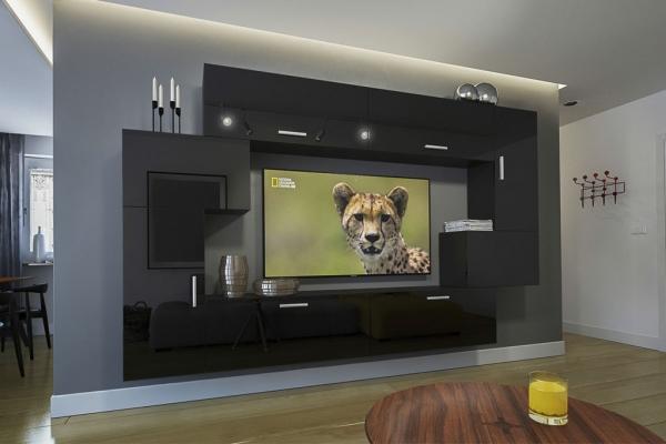 Möbel für Wohnzimmer Schwarz und glänzend – Orlean NX 6 - Prime Home Deutschland – Möbel für Haus und Büro | www.prime-home.de