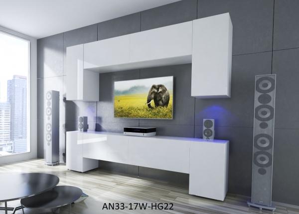 Möbel für Wohnzimmer Weiß und glänzend – Ekwador NX 33 - Prime Home Deutschland – Möbel für Haus und Büro | www.prime-home.de