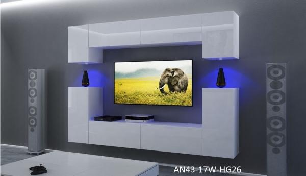 Möbel für Wohnzimmer Weiß und glänzend – Rodos NX 43 - Prime Home Deutschland – Möbel für Haus und Büro | www.prime-home.de