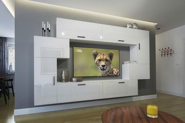 Möbel für Wohnzimmer – Weiß und glänzend – Orlean NX 6 - Prime Home Deutschland – Möbel für Haus und Büro | www.prime-home.de