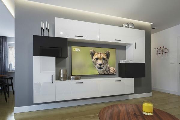 Möbel für Wohnzimmer – Weiß / schwarz und glänzend – Orlean NX 6 - Prime Home Deutschland – Möbel für Haus und Büro | www.prime-home.de