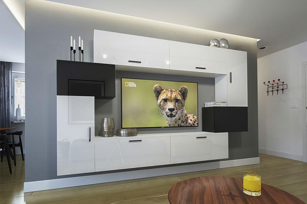 Möbel Für Wohnzimmer U2013 Weiß / Schwarz Und Glänzend U2013 Orlean NX 6   Prime  Home