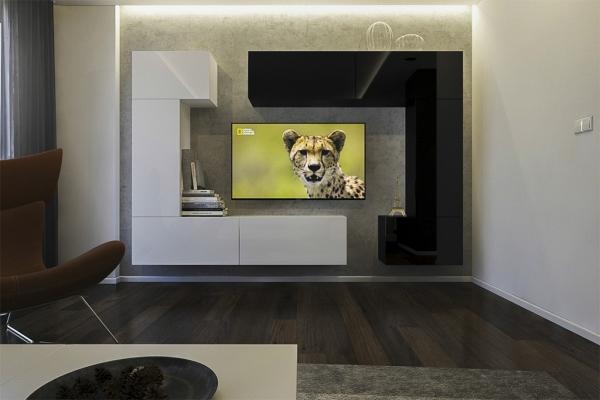 Möbel für Wohnzimmer Weiß / schwarz und glänzend – Tokio NX 7 - Prime Home Deutschland – Möbel für Haus und Büro | www.prime-home.de