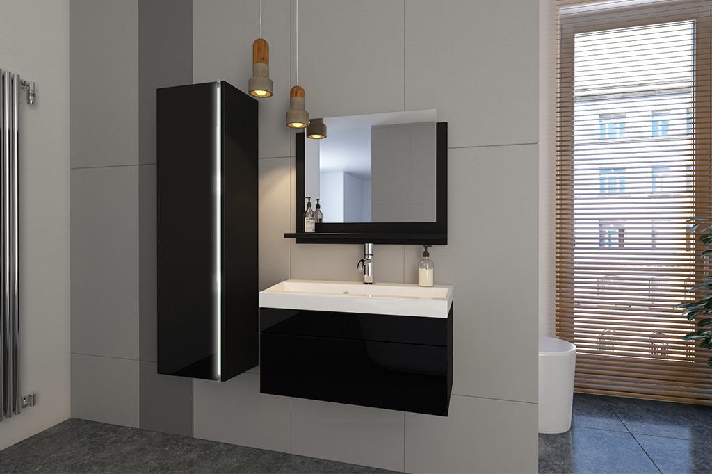 Möbel für Badezimmer CLARA - schwarz www.prime-home.de