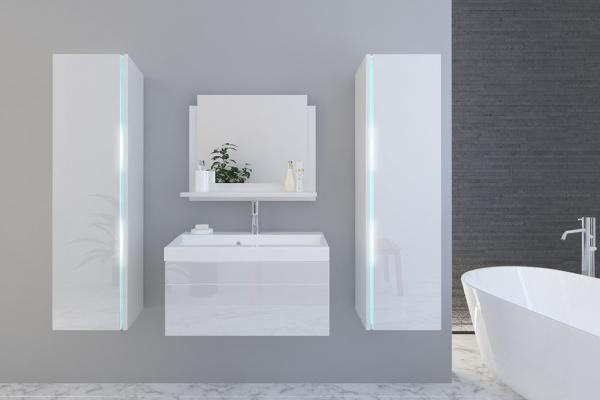 Weiße Möbel für Badezimmer mit Waschbecken – Jenny 3 80 cm - Prime Home Deutschland – Möbel für Haus und Büro | www.prime-home.de