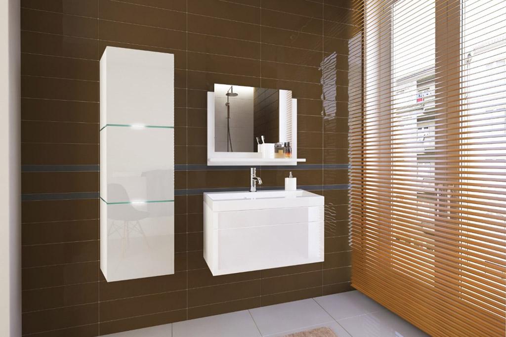 m bel f r badezimmer lorent wei. Black Bedroom Furniture Sets. Home Design Ideas