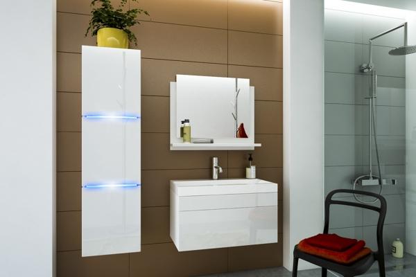 Weiße Möbel für Badezimmer mit Waschbecken – AMANDA 80 cm - Prime Home Deutschland – Möbel für Haus und Büro | www.prime-home.de
