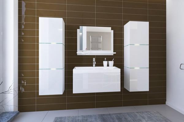 Weiße Möbel für Badezimmer mit Waschbecken – Lorent 2 80 cm - Prime Home Deutschland – Möbel für Haus und Büro | www.prime-home.de