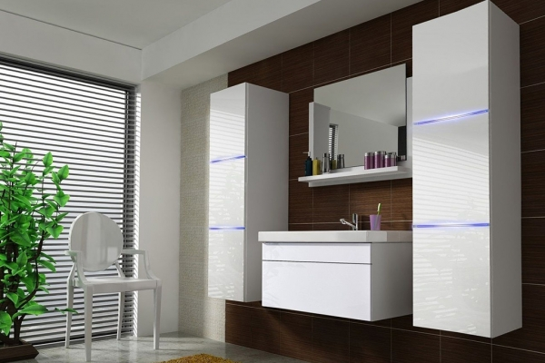 Weiße Möbel für Badezimmer mit Waschbecken – Amanda 2 80 cm - Prime Home Deutschland – Möbel für Haus und Büro | www.prime-home.de