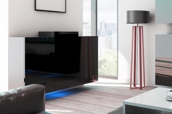 Schwarze Kommode – Nadia NXK4 - Prime Home Deutschland – Möbel für Haus und Büro | www.prime-home.de