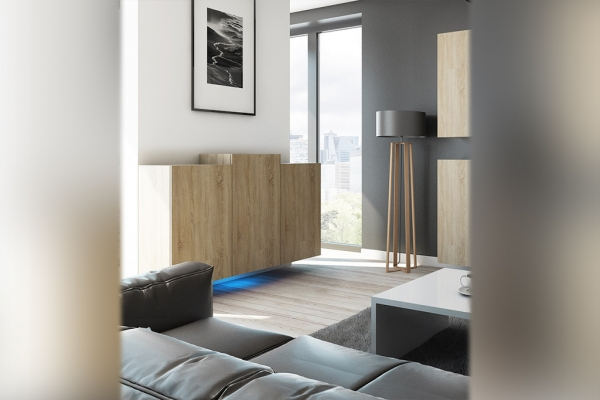 Kommode Sonoma Eiche – Nadia NXK4 - Prime Home Deutschland – Möbel für Haus und Büro | www.prime-home.de