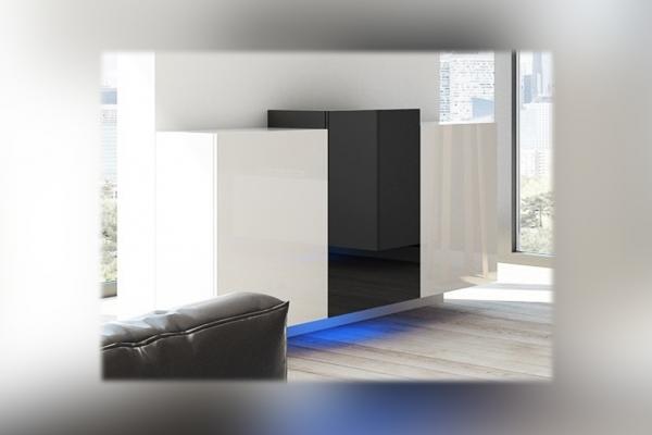 Schwarz-weiße Kommode – Nadia NXK4 - Prime Home Deutschland – Möbel für Haus und Büro | www.prime-home.de