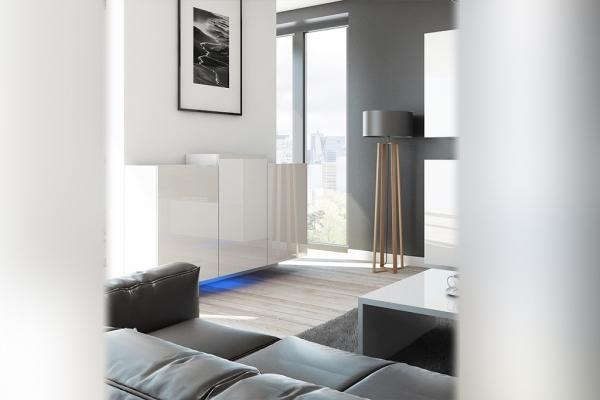 Weiße Kommode – Nadia NXK4 - Prime Home Deutschland – Möbel für Haus und Büro | www.prime-home.de