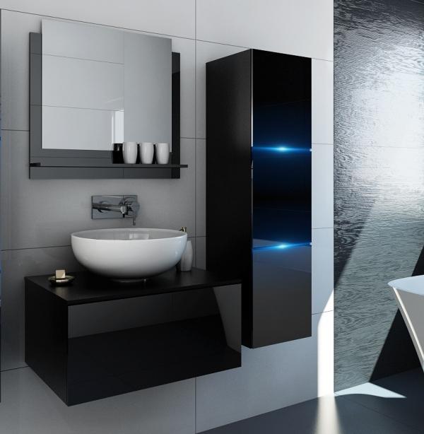 Schwarze Möbel für Badezimmer ohne Waschbecken – Like – Prime Home Deutschland | www.prime-home.de